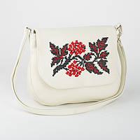Женская сумка из эко-кожи с вышивкой