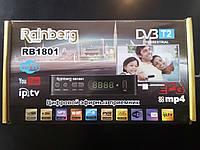 DVB-T2 телевизионный цифровой тюнер Rainberg 1802 с интернетом WI-Fi, Youtube, фото 1