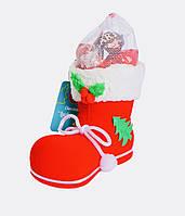 Шоколадные подарки детям на Николая. Сапожок с конфетами детям к Николаю