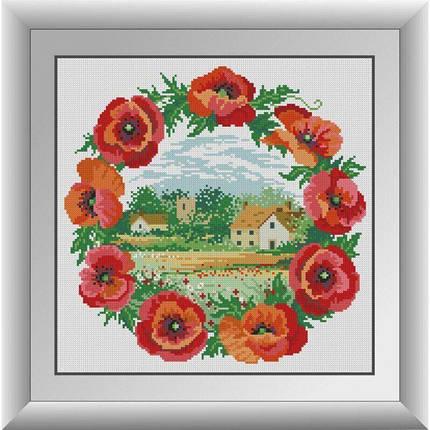 30970 Будиночок в маках Набір алмазної живопису, фото 2