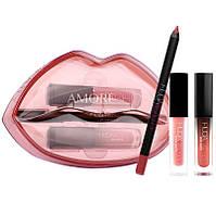 Набор для макияжа губ Huda Beauty Lip Contour & Liquid Matte In Bombshell Demi Matte In Mogul