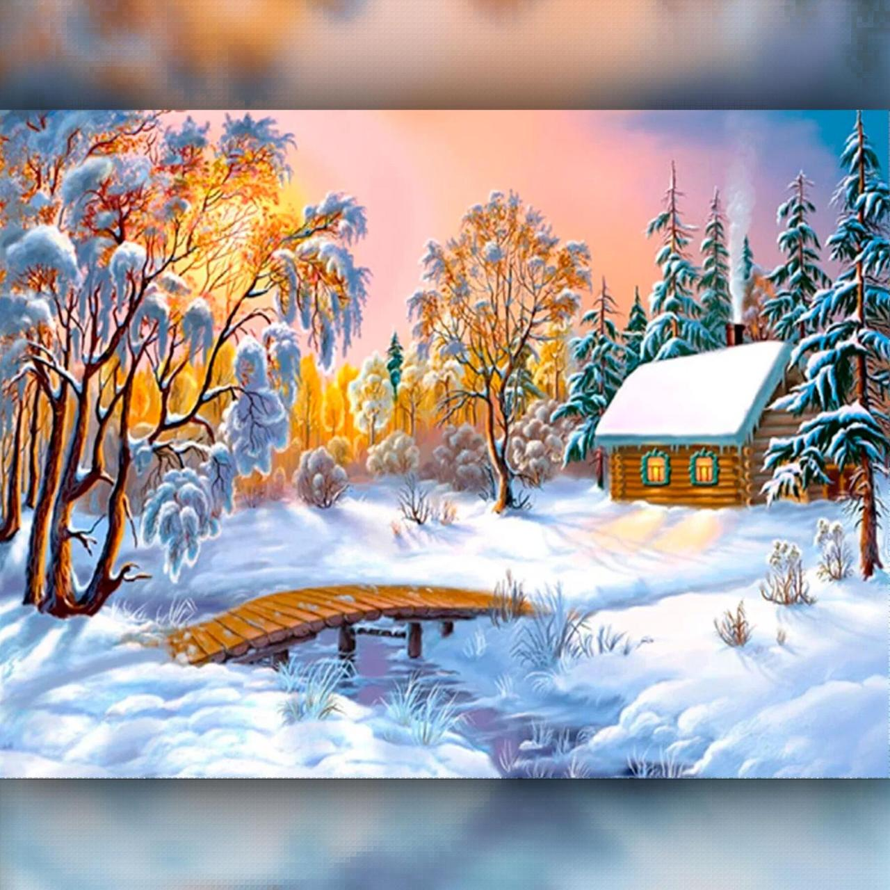 TWD30002 Набор алмазной вышивки Зимний домик