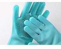 Перчатки с щеткой для уборки и мытья посуды Kitchen Gloves