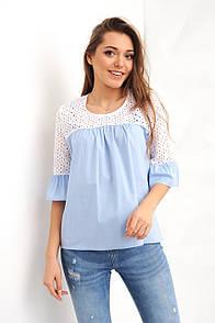 Футболки, топы, блузы Стимма Рубашка Анила голубая размер XS XS (Р1927)