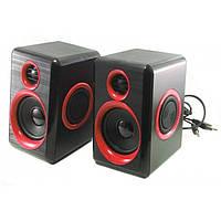Компьютерные колонки акустика 2.0 USB FnT FT-165 Красные