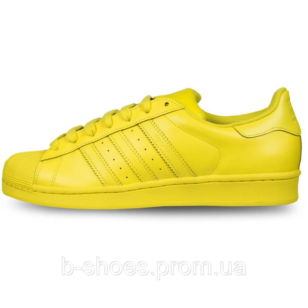 Женские кроссовки  Adidas Superstar  Multi color (Yellow)