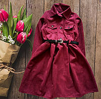 Плаття для дівчинки вельвет