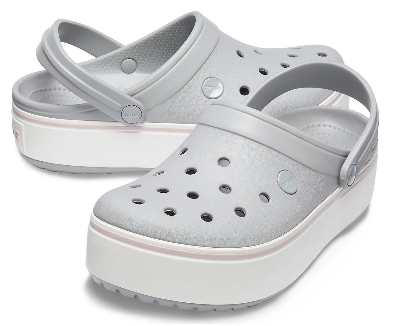 Кроксы летние Crocs Platform серые 37 разм.