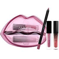 Набор для макияжа губ Huda Beauty Lip Contour & Liquid Matte In Trophy Demi Matte In Sheikha