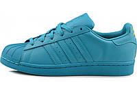 Женские кроссовки  Adidas Superstar  Multi color (Blue), фото 1