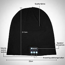 Шапка со встроенной блютуз гарнитурой и микрофоном KS Magic Hat Черная, фото 3