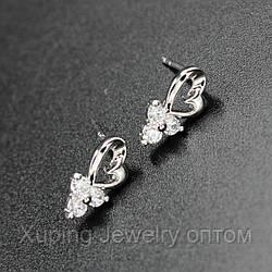 """Серьги женские """"Padregin"""" Xuping Jewelry (позолота)."""
