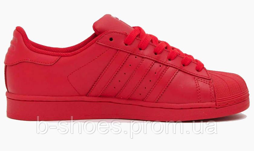 Женские кроссовки  Adidas Superstar  Multi color (Red)