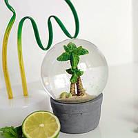Шар с водой декоративный Пальма, 13 см
