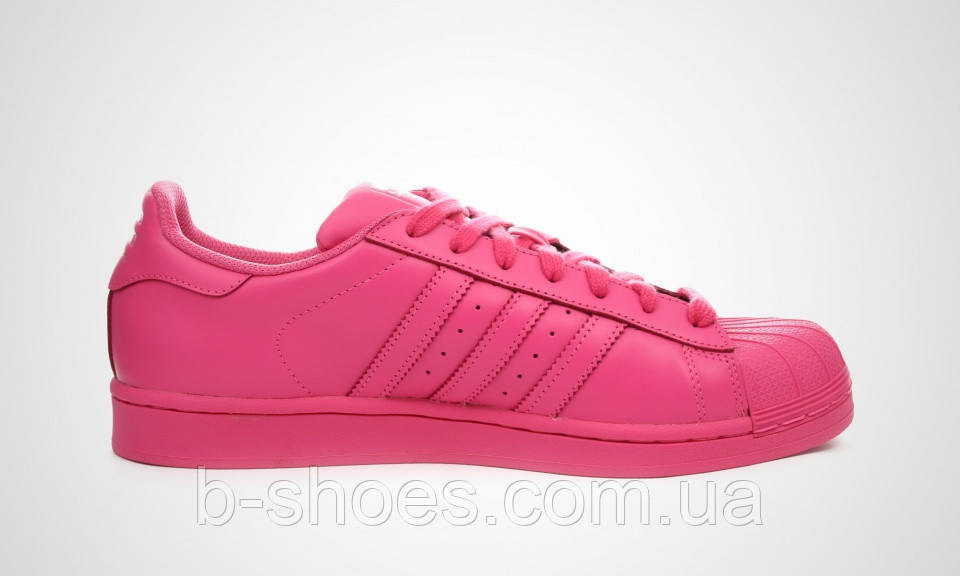 Женские кроссовки  Adidas Superstar  Multi color (Pink)