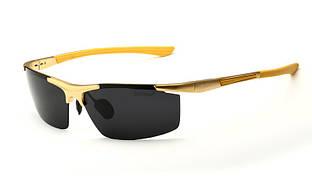 Сонцезахисні окуляри для чоловіків, Veithdia, Золотиста оправа, поляризовані окуляри для водіїв