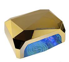 ✅ Лампа для манікюру, Beauty nail CCF + LED, 36 Вт, колір – Золотистий, лампа для гель лаку