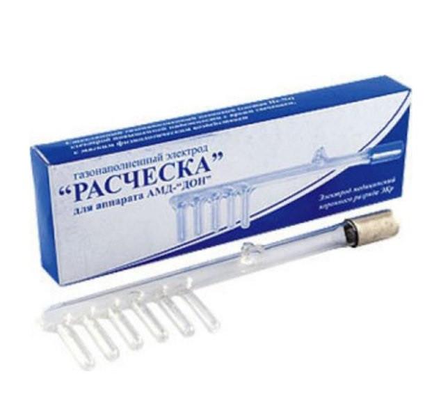 Электрод (насадка) Расческа для аппарата Дарсонваль Арго, лечение волос, укрепление, против выпадения