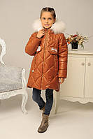 Зимний пуховик - пальто «Кейт-зима» на девочку 9-18 лет (р. 32-42 / 122-152) ТМ MANIFIK 10 цветов