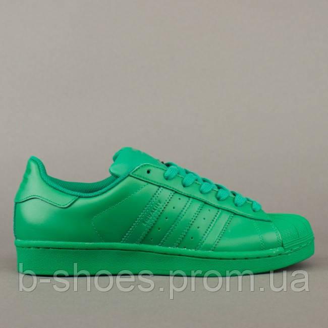 Женские кроссовки  Adidas Superstar  Multi color (Green)