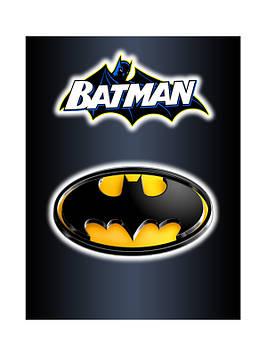 """""""Бетмен: чёрный"""" - Наклейка"""