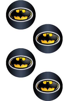 """Бетмен: чёрный"" - Наклейка Герои Круг 45 мм."