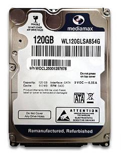 "Накопитель HDD 2.5"" SATA 120GB Mediamax 5400rpm 8MB (WL120GLSA854G) Восстановленный"