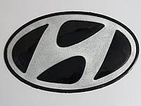 Антискользящий силиконовый коврик на торпедо с логотипом Hyundai