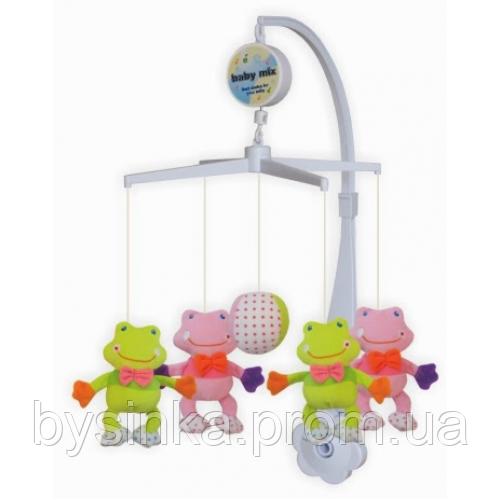 Музыкальный мобиль, Карусель на кроватку Baby Mix 339М Лягушка