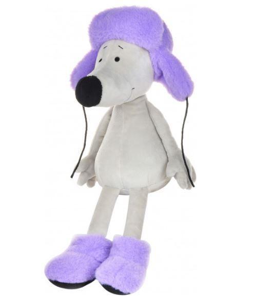 """Мягкая игрушка Maxi Toys """"Мышонок Носатик в меховой шапке и валенках"""""""