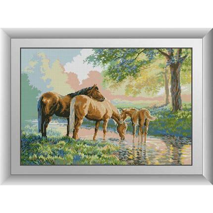 31046 Лошади на реке Набор алмазной живописи, фото 2