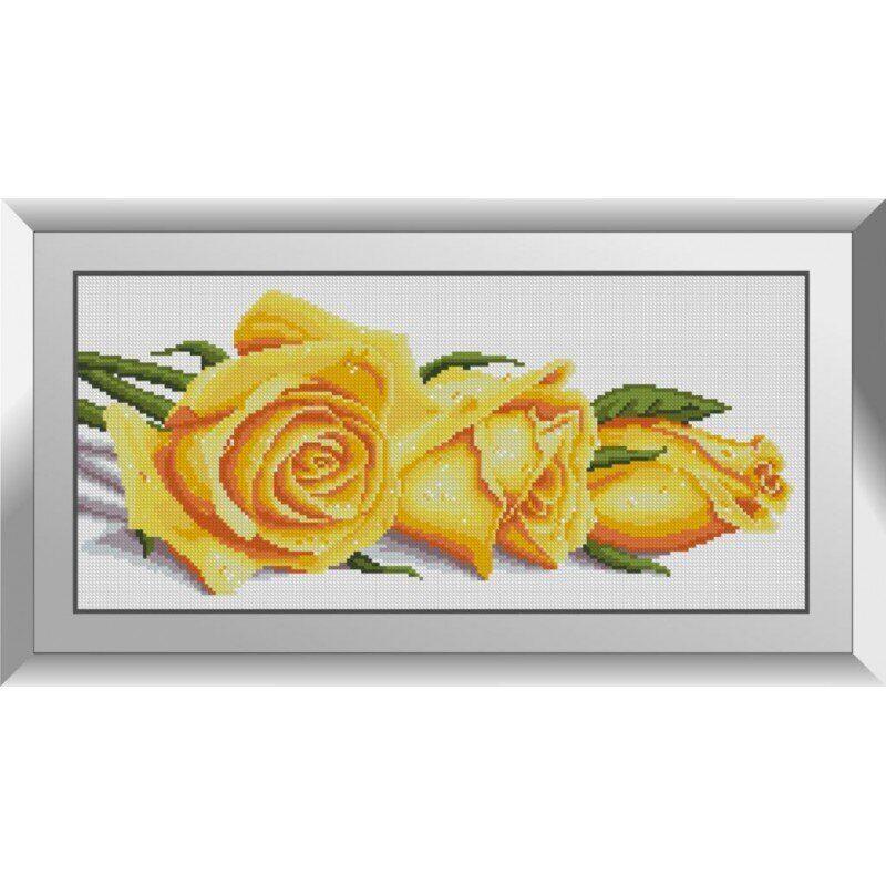 31069 Розы в росе Набор алмазной живописи