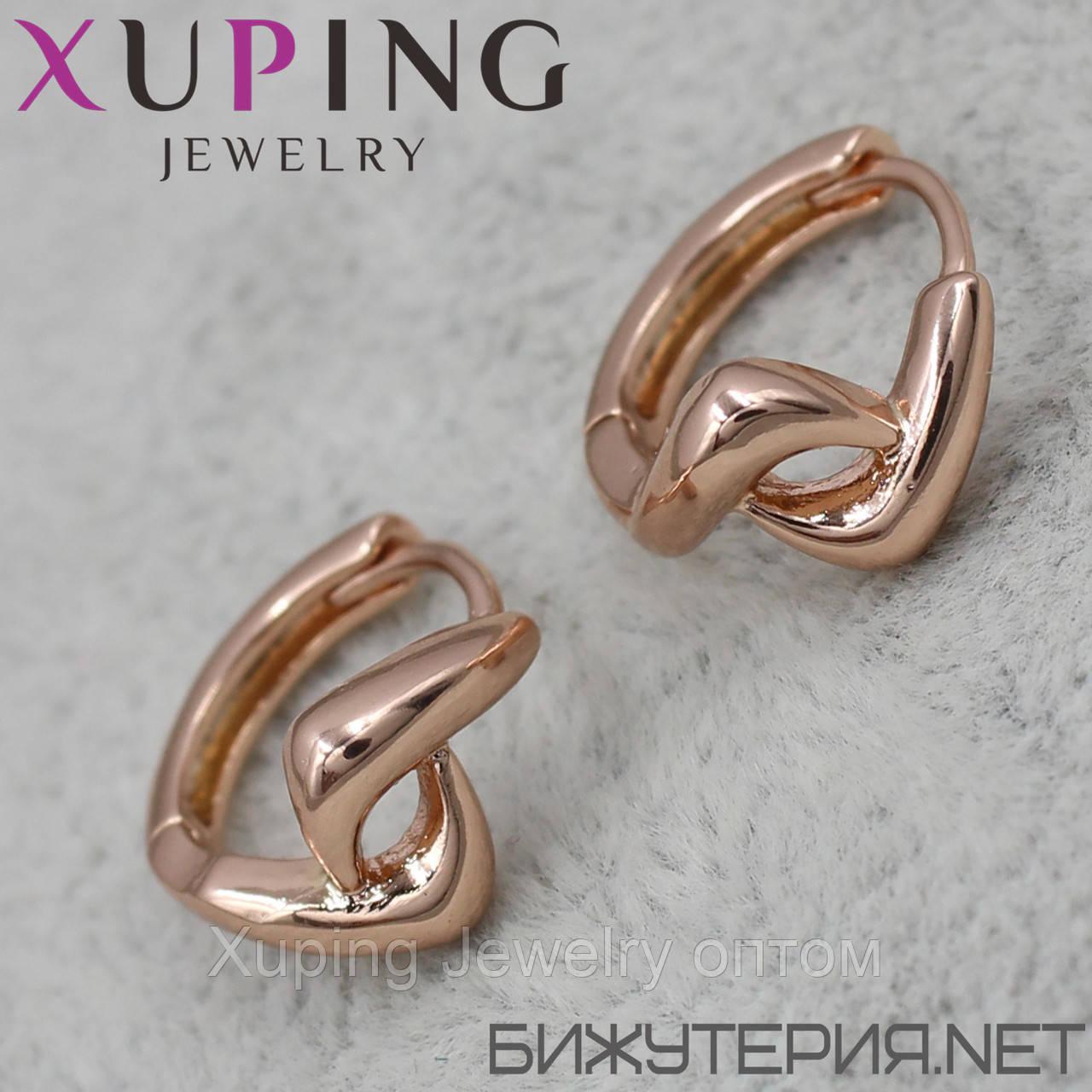 Xuping серьги-кольца позолота xpge2-17