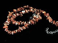 Крошка из коричневой яшмы, 46см, фото 1