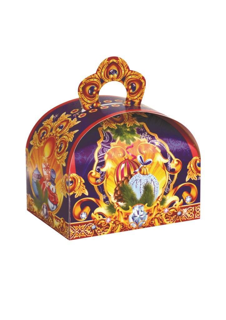 """Новогодняя подарочная коробочка для конфет и сладостей 150-200гр Скринька """"Скарбничка"""" 100шт/уп"""