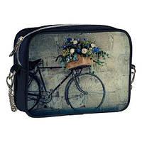 Сумка на цепочке Cherie Велосипед с цветами