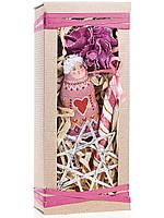 Подарочный новогодний набор малый в марсаловых оттенках Ангел с сердцем