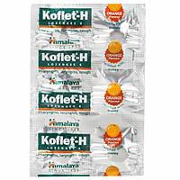 Кофлет зі смаком апельсину 6 шт., Хімалая, Himalaya Koflet H Lozenges Orange Flav, Кофлет с апельсином и мёдом