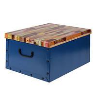 Коробка для хранения с крышкой (синяя), 49,5х39х24 см
