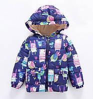 Куртка весна-осень для девочек Sqveak темно-синяя