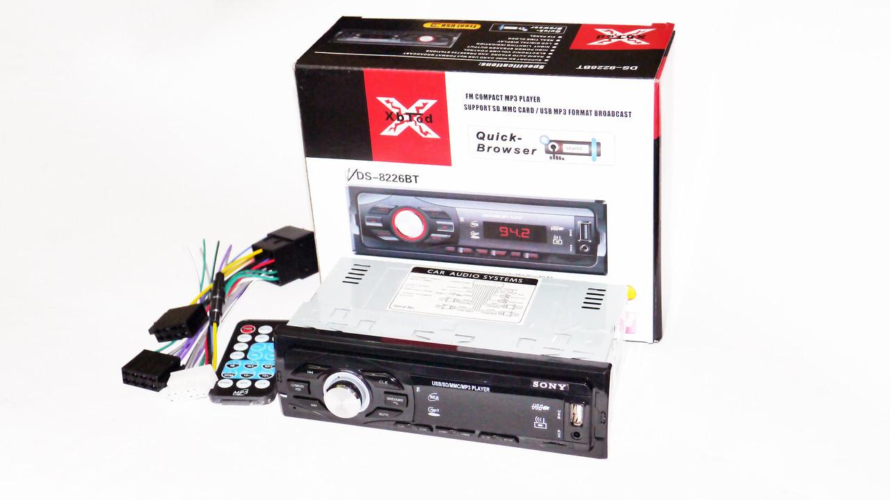 Автомагнитола Sony 8226BT ISO Bluetooth, MP3, FM, USB, SD, AUX