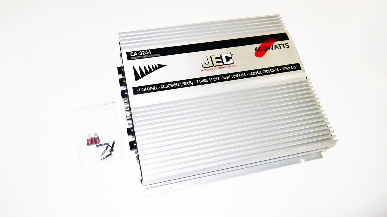 JEC CA-3244 400Вт Автомобильный усилитель звука 4х канальный
