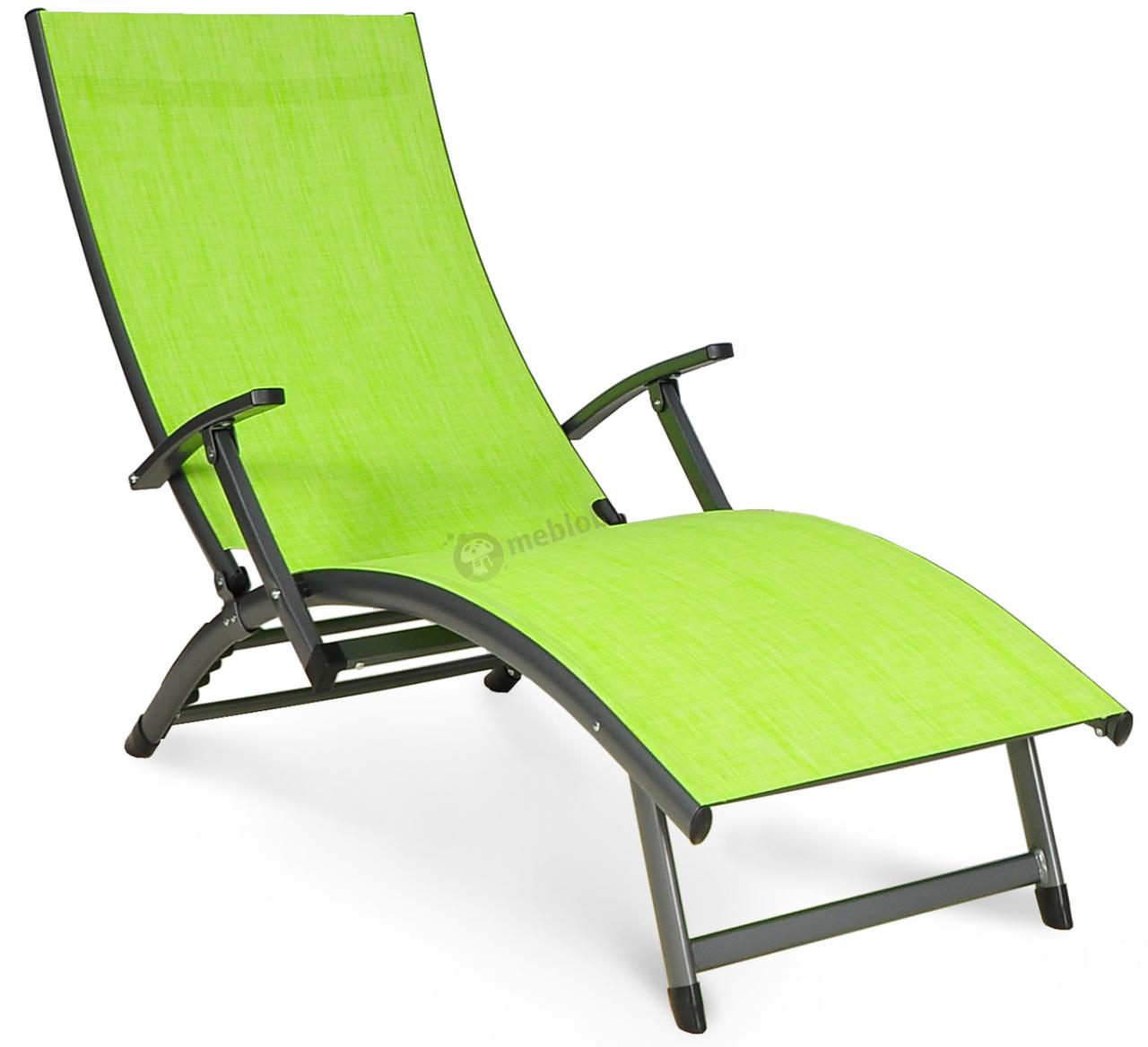Лежак пляжный алюминиевый Relax зеленый