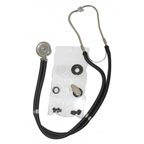 Стетофонендоскоп с головкой типа Рапопорт серебряного цвета