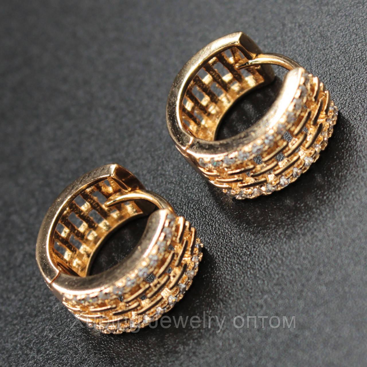 Xuping серьги-кольца позолота xpge2-54