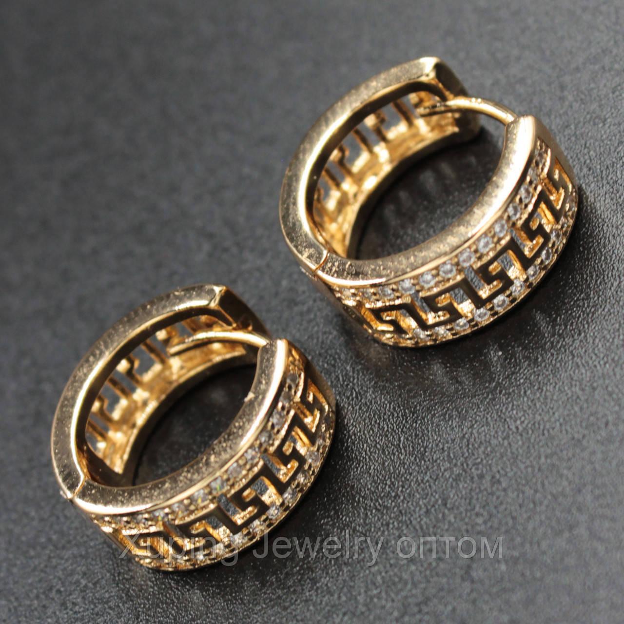 Xuping серьги-кольца позолота xpge2-67