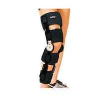 Ортез коленного сустава с шарнирным регулируемым углом сгиба