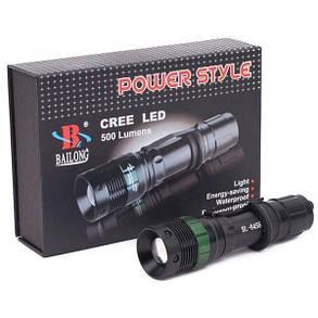 Тактический фонарь Bailong BL-8455 Police Cree (набор), фото 2