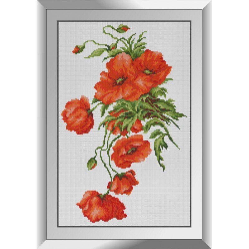 31085 Красный мак Набор алмазной живописи