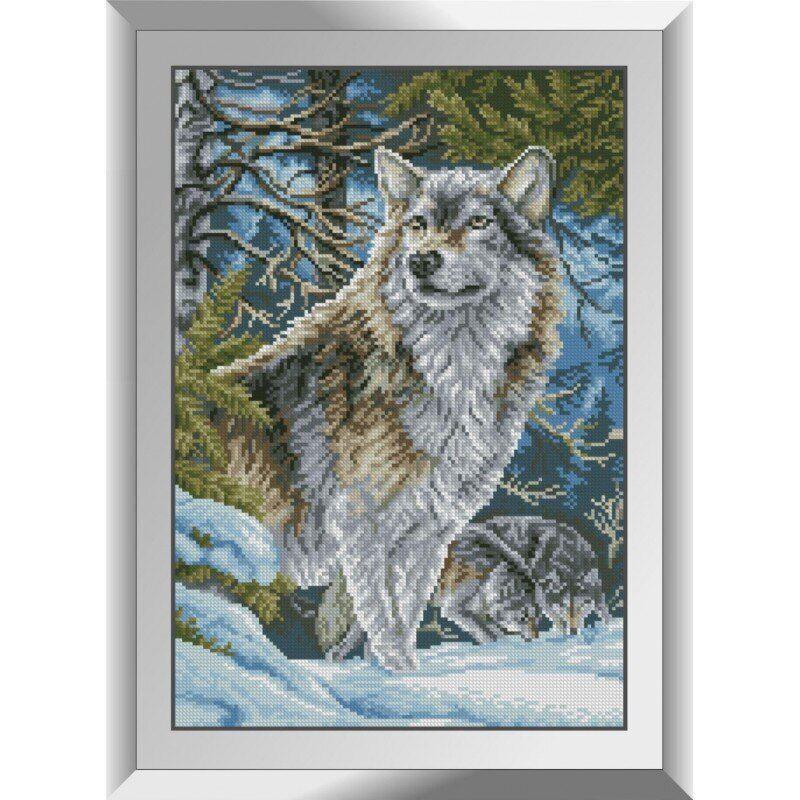 31102 Волки в горах Набор алмазной живописи